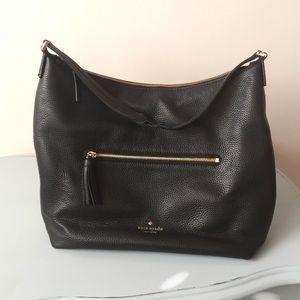 KATE SPADE Black leather shoulder bag!
